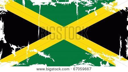 Jamaican grunge flag. Vector illustration
