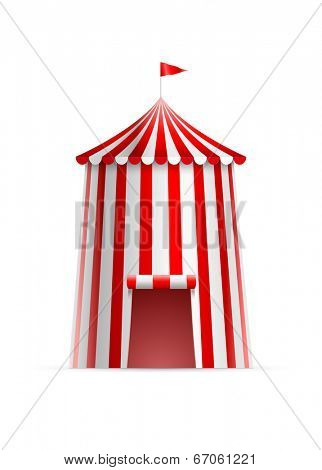 Vector illustration of circus tower tent.