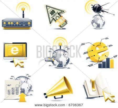 Vector communication icon set. Internet, part 1