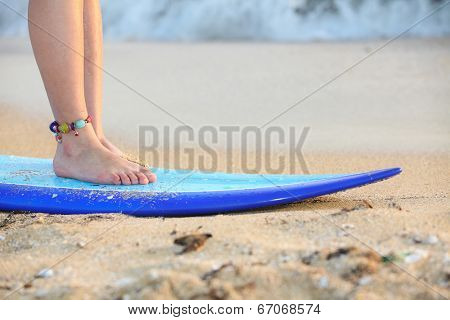 surf board beach vacation