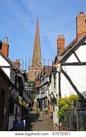 Village street, Ledbury.
