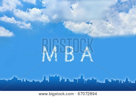 Master Of Business Administration (mba) Text On Cloud