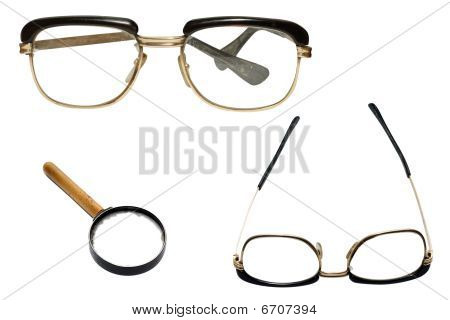 Glasses And Loupe