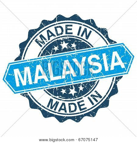 Made In Malaysia Vintage Stamp Isolated On White Background