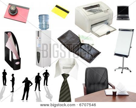 Images concerning of business and office