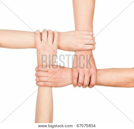 Hands Are Closed, Hands Holding Each Other In Unity