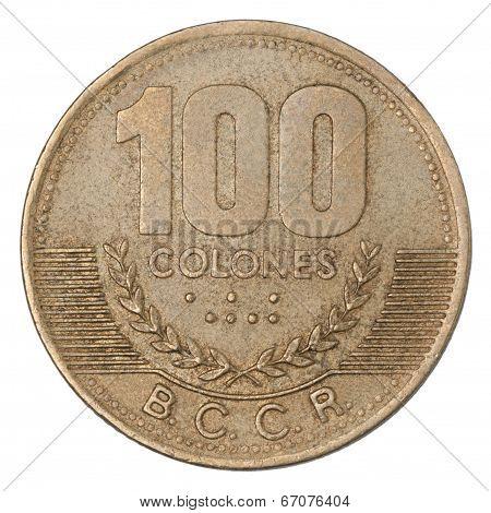 Costa Rican Colones Coin