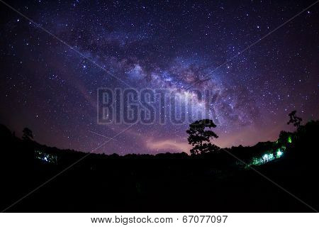 Milky Way at Phu Hin Rong Kla National Park,Phitsanulok Thailand