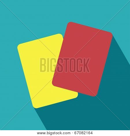Red And Yellow Card Icon