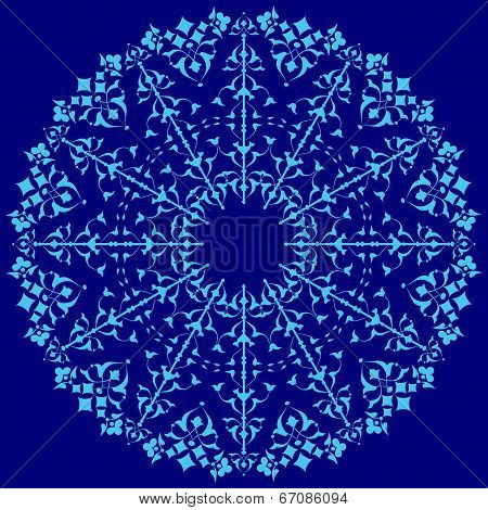 Blue Oriental Ottoman Design Thirty-four