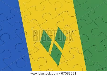 Saint Vincent And The Grenadines Flag Jigsaw Puzzle