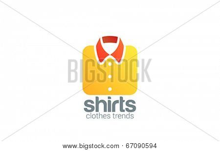 Clothes Store concept vector logo design template. On-line fashion shop icon.