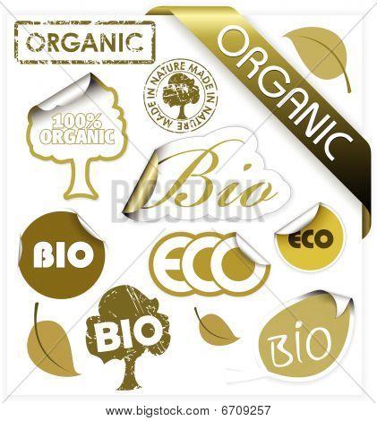 Set Of Vector Bio, Eco, Organic Elements