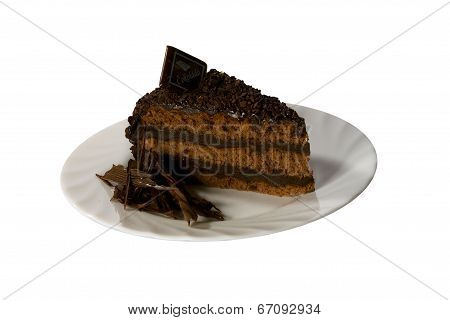 Sweet Cake On The Plate