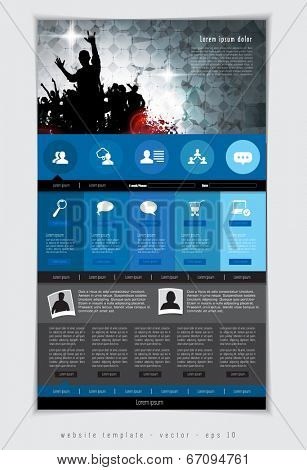 Website template. Editable vector