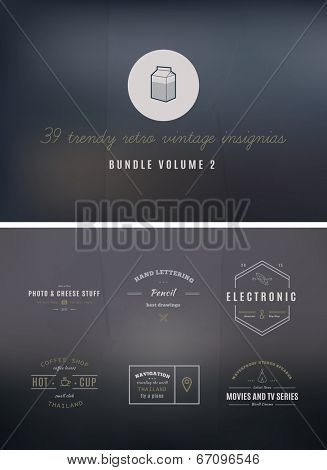39 Trendy Retro Vintage Insignias Bundle Volume 2