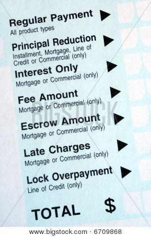 machen Sie eine Zahlung auf eine Bank Einzahlungsschein