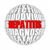 foto of hepatitis  - circle words on the ball on the topic of hepatitis - JPG