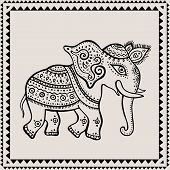 picture of indian elephant  - Ethnic elephant - JPG