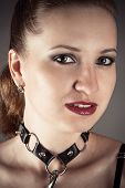 picture of sadistic  - portrait of a pretty woman in the image a slave - JPG