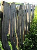 stock photo of stockade  - Abstract fencing photographed at Torcross in Devon - JPG