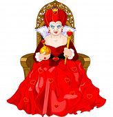 picture of throne  - Angry Queen of Hearts on throne - JPG