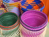 picture of aborigines  - Colorful bags closeup in traditional aboriginal sewing - JPG