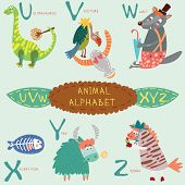 stock photo of letter x  - Cute animal alphabet - JPG