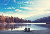 image of mountain-high  - lake in mountains - JPG