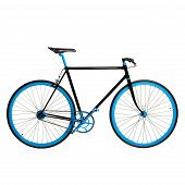 picture of gyro  - Stylish blue bicycle isolated on white background - JPG