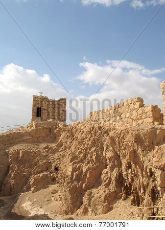Ruined Walls Of Masada