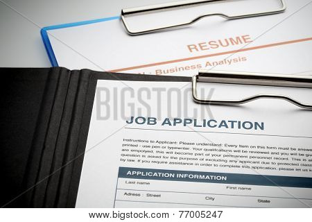 Apply for new job by Application and Resume Document