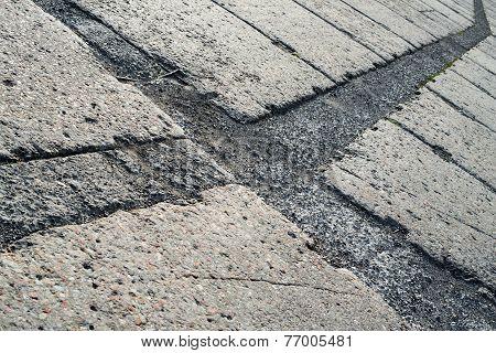 Grey Concrete Pavement Surface
