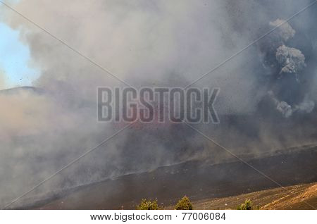 Lava Erupts