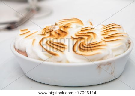 Browned Meringue On Baked Alaska