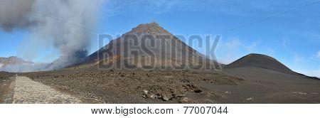 Volcano De Pico Erupting