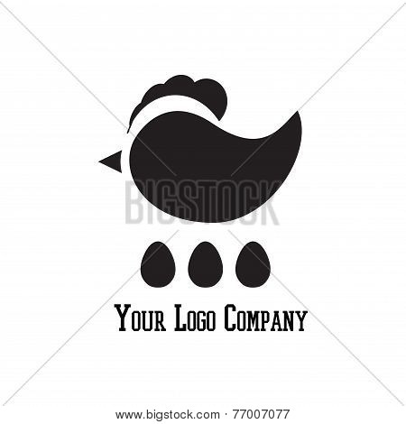 Cock Sign Branding Corporate Logo Isolated