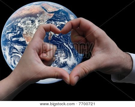 Earth and the hand