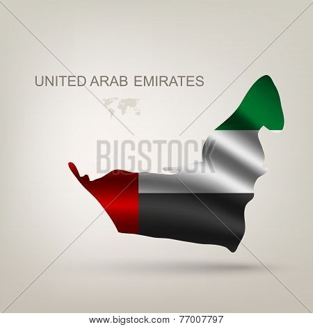 Flag Arab Emirates in a country