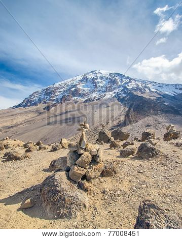 Cairns, Kibo, Kilimanjaro National Park, Tanzania, Africa