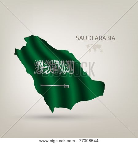 flag of Saudi Arabia as the country