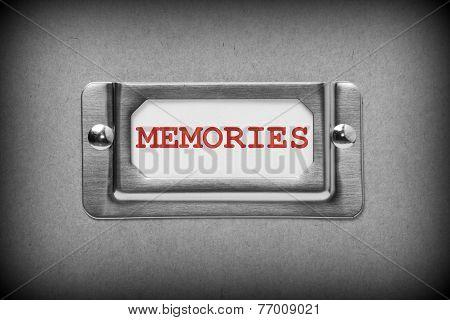 Memories Drawer Label