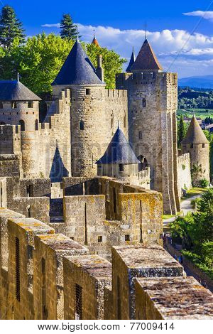 Carcassone - biggest fortress in Europe, France