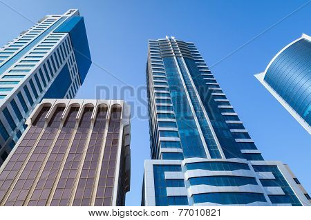 Modern Office Buildings And Hotels In The City Of Manama