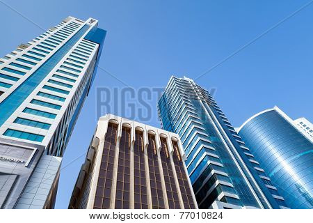 Modern Office Buildings And Hotels. Manama, Bahrain