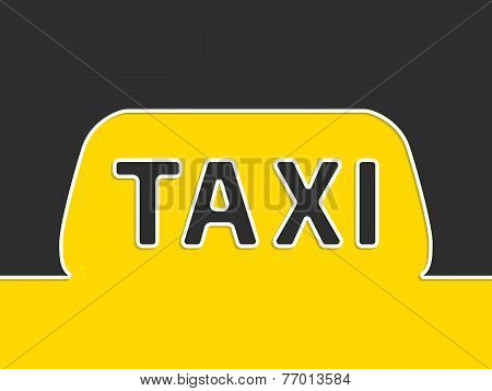 Taxi Company Advertising With Taxi Sign