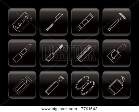 Line Make-up icon set