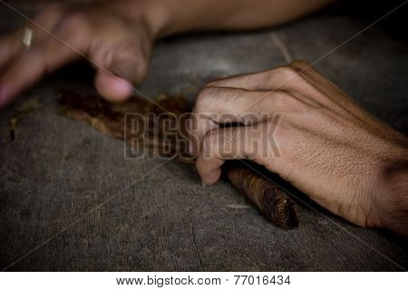Doing Typical Cubano Cigars