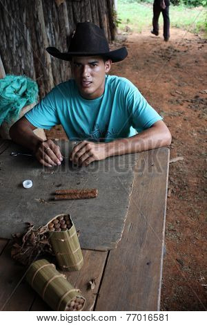 Cuban Guy doing Cigars