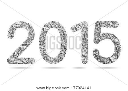 2015 Numeric From Aluminum Foil Texture